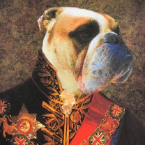 Anthropomorphic frame: Bulldog Officer