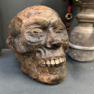 Mummy head - Human skull: artist reproduction by Jérôme Cavailles