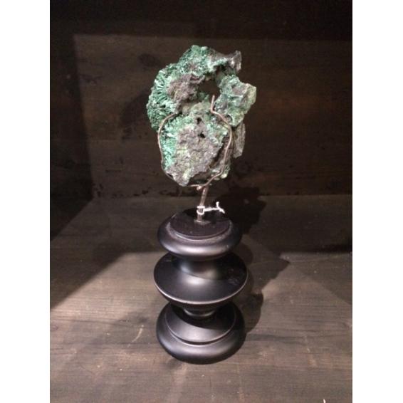 Malachite du Congo sur socle