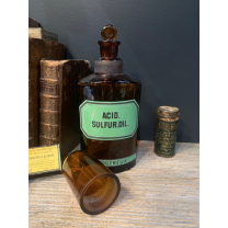 Sulfuric acid: Antique pharmacy bottle - Dangerous