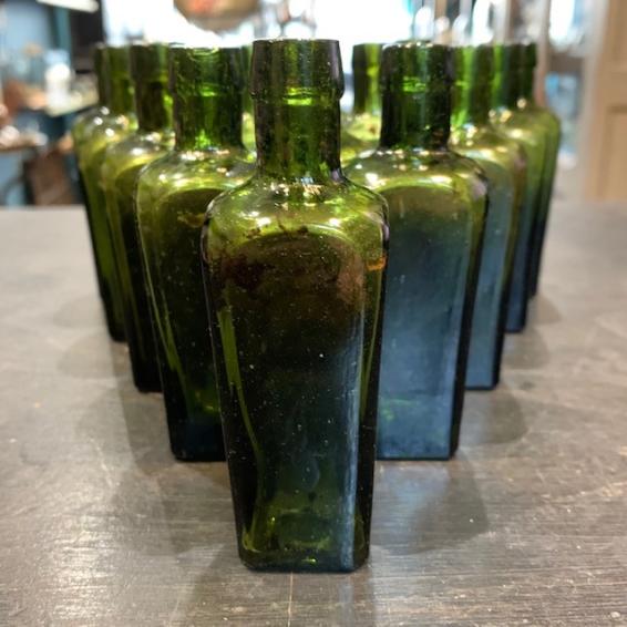 Green glass vial - Old pharmacy bottle