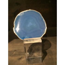 Blue Agate Golden Slice