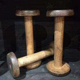 Wooden spinning reel