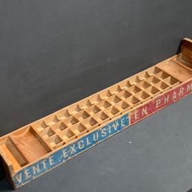 Antique wooden pharmacy display