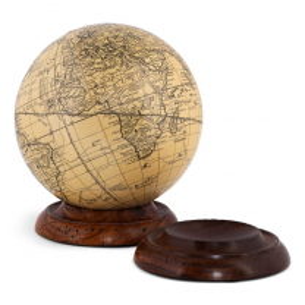 Base en bois pour globe terrestre