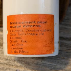 Ointment jar - antihemorrhoidal cocaine ointment