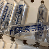 Bulb for hypodermic injection - Sodium Cacodylate (circa 1920) - THERAPLIX