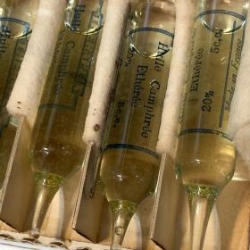 Bulb for hypodermic injection - Camphor (circa 1920) - THERAPLIX