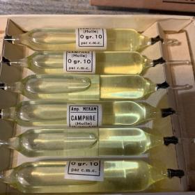 Ampoule pour injection hypodermique - Camphre (1920) - MERAM