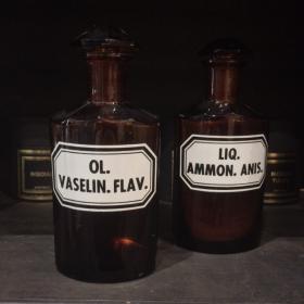 Flacon pharmacie ancien Liqueur Ammoniac anisée