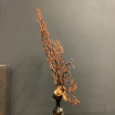 Sea whip tree on turned wooden pedestal