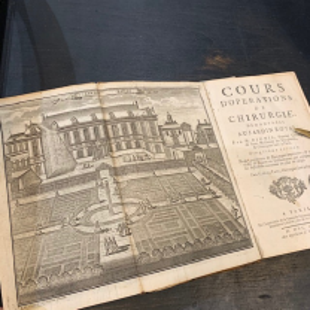 """""""Cours d'opérations de chirurgie, démontrées au Jardin Royal"""" par Dionis 1757 - Livre Tome I"""