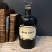 Pharmacy jar: Aqua. Distil. - Distilled Water