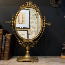 Antique swivelling table mirror - Psyche - XIXth