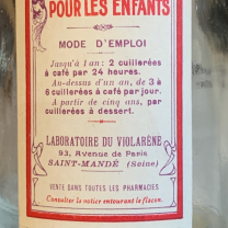 Pharmacy bottle - Violarène: Specific for coughs