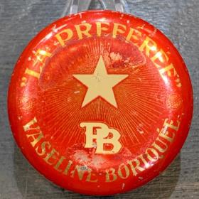 Vaseline La Préférée - Red - antique metal box