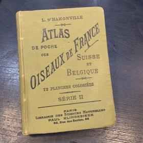 Pocket Atlas: Birds of France, Switzerland and Belgium - 1898