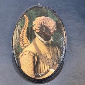 Médaillon anthropomorphique par John Byron - Pango - Ovale - Pangolin