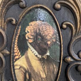 Médaillon baroque sculpté par John Byron - Pangolin