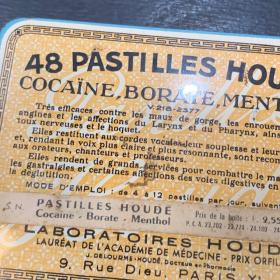 Boîte de pastilles à la Cocaïne - Houdé