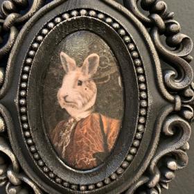 Victorian Medallion by John Byron - Rabbit