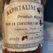 Antique amber pharmacy bottle: Naphtaline Anglaise (English Naphthalene)