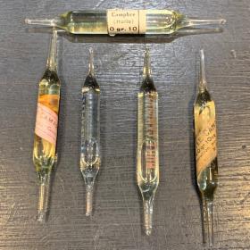 Bulb for hypodermic injection - Camphor (circa 1920) - various manufacturers
