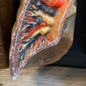Anatomical skinning: Lung on wood panel