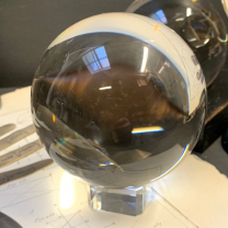 Crystal ball on its square base