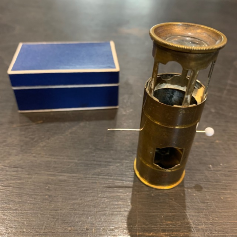 Brass insectoscope - pocket microscope
