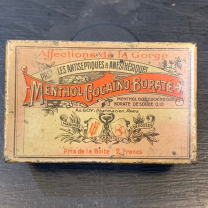 Box of cocaine lozenges - MBC: Menthol Cocaïno Borate