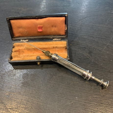 Antique hypodermic syringe of PRAVAZ - End of the 19th