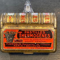 Pastilles Thermogène - Antique pharmacy box in book form Codeine tablets
