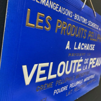 Pelliphilic products - 40/50's avertising signs in embossed cardboard