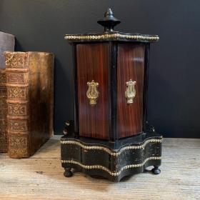 Boîte à cigare cylindrique - Napoléon III - cave à cigare kiosque du XIXème siècle