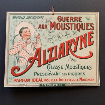 Alziaryne: War on Mosquitoes - Advertising panel of 1916