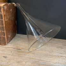 Antique glass laboratory funnel - Size L