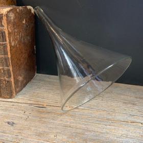 Entonnoir de laboratoire ancien en verre - Taille L