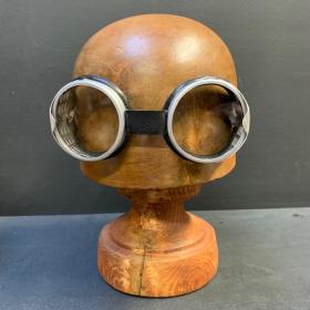 Antique glasses of welder-pilot-railway worker