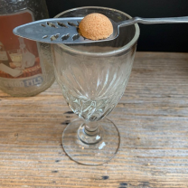 Antique twisted absinthe glass - Ref E