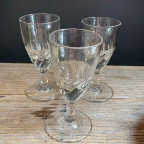 Antique twisted liquor glass - Blown glass