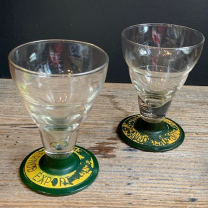 Antique pastis glass with beads - Pernod Export