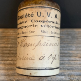 Aspirine - Ancien flacon de pharmacie - Droguerie vétérinaire