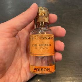 Arsenic acid- Antique pharmacy bottle - Poison - Toxic