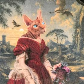 Anthropomorphic Medallion by John Byron - Mina - Cat