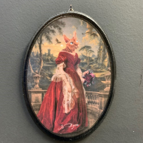 Anthropomorphic Medallion by John Byron - The Romantic