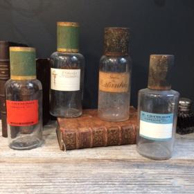 Flacon pharmacie ancien petit format