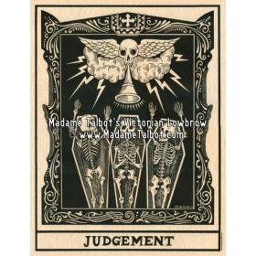 Affiche gothique victorienne Madame Talbot: Jugement Dernier