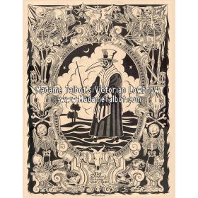 Affiches gothiques victoriennes Madame Talbot: La Peste