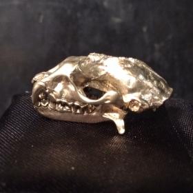 Bronze bat skull